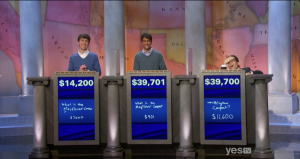 Alec Fischthal's epic reaction to the results of the Jeopardy! Teen Tournament.