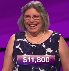 Angela Ward, winner of the September 18, 2017 game of Jeopardy!