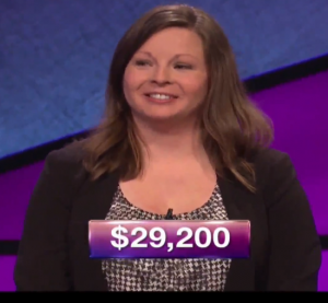 Betsy Kundson, winner of the September 19, 2017 game of Jeopardy!