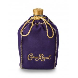 A bottle of Crown Royal in its famous purple bag. Crown Royal was the correct response to Final Jeopardy on September 19, 2017.