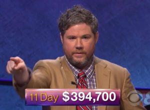Austin Rogers, winner of the October 10, 2017 episode of Jeopardy!