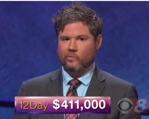 Austin Rogers, winner of the October 11, 2017 game of Jeopardy!
