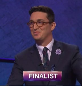 Buzzy Cohen, today's Jeopardy! winner (for the August 7, 2018 episode.)