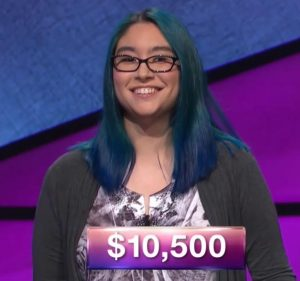 Kiana Nakamura, today's Jeopardy! champion (for the November 21, 2017 episode.)