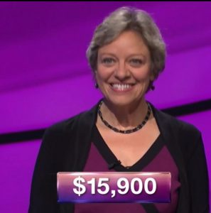 Lisa Kristina, today's Jeopardy! champion (for the November 30, 2017 episode.)