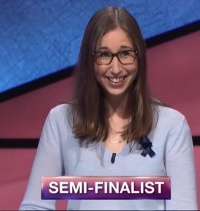 Lisa Schlitt, today's Jeopardy! winner (for the August 2, 2018 episode.)