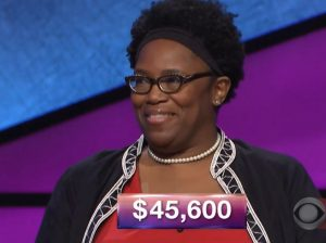Donna Brown, today's Jeopardy! winner (for the December 22, 2017 episode.)