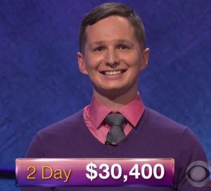 Kyle Becker, today's Jeopardy winner (for the December 5, 2017 episode.)