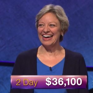 Lisa Kristina, today's Jeopardy! champion (for the December 1, 2017 episode.)