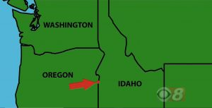 Today's Final Jeopardy (in the category Food Brands), showing a location on the Oregon-Idaho border, for January 31, 2018.