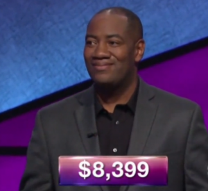 Gilbert Collins, today's Jeopardy! winner (for the January 10, 2018 episode.)