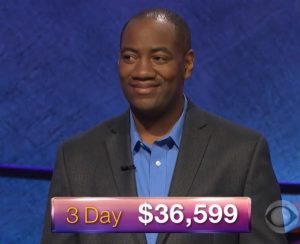Gilbert Collins, today's Jeopardy! winner (for the January 12, 2018 episode.)