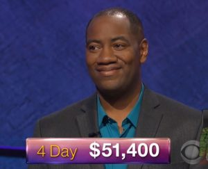 Gilbert Collins, today's Jeopardy! winner (for the January 15, 2018 episode.)