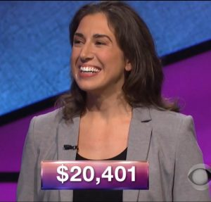 Jennifer Tomassi, today's Jeopardy! champion (for the January 26, 2018 episode.)