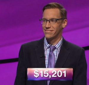 Nick Spicher, today's Jeopardy! winner (for the January 1, 2018 episode.)