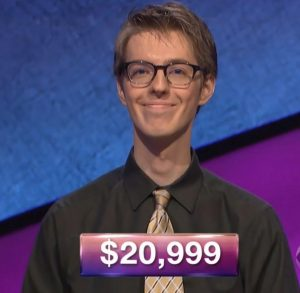 Ryan Fenster, today's Jeopardy! winner (for the January 29, 2018 episode.)