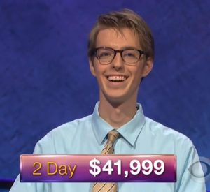 Ryan Fenster, today's Jeopardy! winner (for the January 30, 2018 episode.)