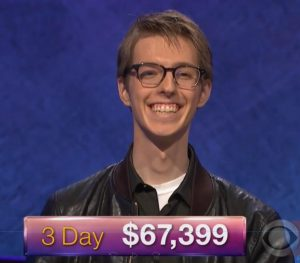 Ryan Fenster, today's Jeopardy! winner (for the January 31, 2018 episode.)