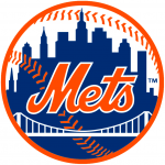 The New York Mets logo, as used in Final Jeopardy! on February 7, 2018.