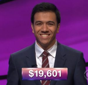 John Giambrone, today's Jeopardy! winner (for the February 7, 2018 episode.)