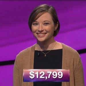 Laura McLean, today's Jeopardy! winner (for the February 28, 2018 episode.)