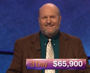 Marty Cunningham, today's Jeopardy! winner (for the February 12, 2018 episode.)