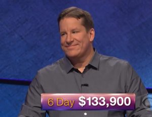 Rob Worman, today's Jeopardy! winner (for the February 21, 2018 episode.)