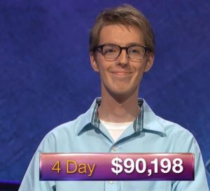 Ryan Fenster, today's Jeopardy! winner (for the June 18, 2020 episode.)