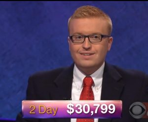 Sean Udicious, today's Jeopardy! winner (for the February 6, 2018 episode.)