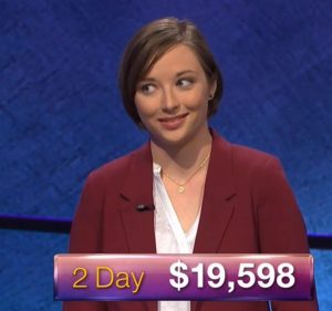 Laura McLean, today's Jeopardy! winner (for the March 1, 2018 episode.)