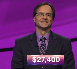 Peter Karamitsos, today's Jeopardy! winner (for the March 14, 2018 episode.)