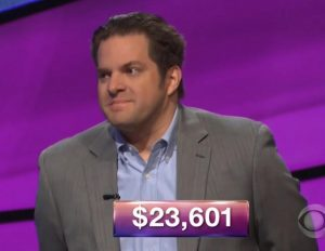 Robert Dimitri, today's Jeopardy! winner (for the March 27, 2018 episode.)