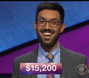 Tristan Mohabir, today's Jeopardy! winner (for the March 23, 2018 game.)