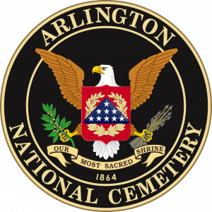 the seal of Arlington National Cemetery, as used during Final Jeopardy on April 19, 2018.