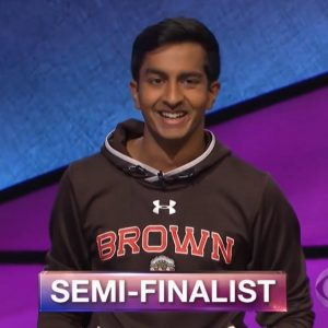 Dhruv Gaur, today's Jeopardy! winner (for the August 14, 2018 game).
