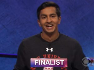 Dhruv Gaur, today's Jeopardy winner (for the August 22, 2018 game.)