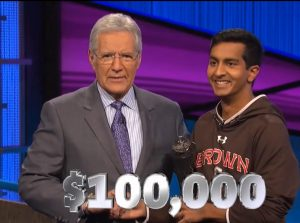Dhruv Gaur, today's Jeopardy! winner (for the June 16, 2020 game.)