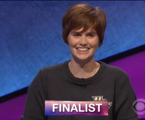Hannah Sage, today's Jeopardy! winner (for the August 21, 2018 game.)