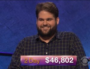 Jack Dickey, today's Jeopardy! winner (for the April 4, 2018 game.)