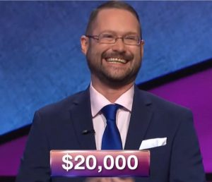 Randy Mathews, today's Jeopardy! winner (for the April 24, 2018 game.)