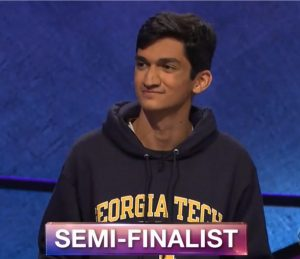 Rishab Jain, today's Jeopardy! winner (for the April 11, 2018 game.)
