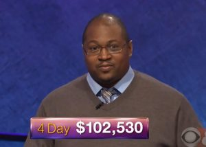 Josh Hill, today's Jeopardy! winner (for the May 21, 2018 episode.)