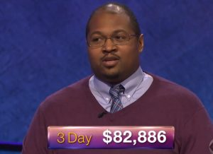 Josh Hill, today's Jeopardy! winner (for the May 4, 2018 episode.)