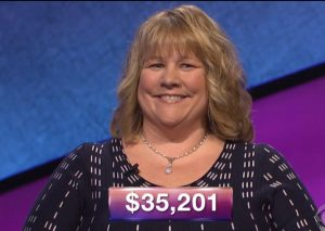 Virginia Cummings, today's Jeopardy! winner (for the May 25, 2018 episode.)