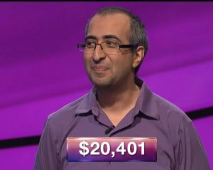 Ali Hason, today's Jeopardy! winner (for the June 19, 2018 game.)