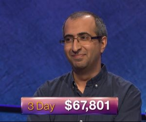 Ali Hasan, today's Jeopardy! winner (for the June 21, 2018 game.)