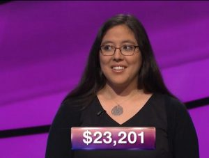 Catherine Ono, today's Jeopardy! winner (for the June 11, 2018 game.)
