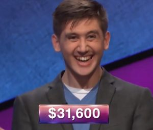 David Kleinman, today's Jeopardy! winner (for the June 8, 2018 episode.)