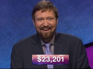 Ian Booth, today's Jeopardy! winner (for the June 1, 2018 game.)