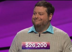 Dave Mattingly, today's Jeopardy! winner (for the July 20, 2018 episode.)